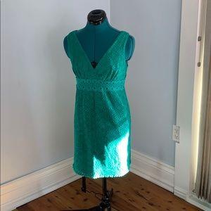 Green lace summer dress